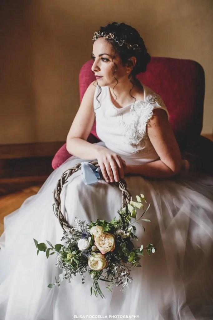 Colori e toni caldi per una sposa d'inverno