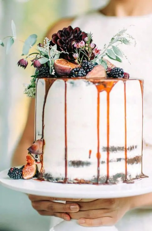 Naked cake con fighi d'autunno