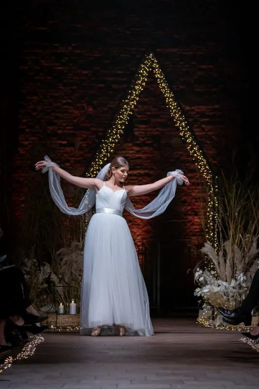 Abito sposa ballerina in tulle  Chiara VITALI