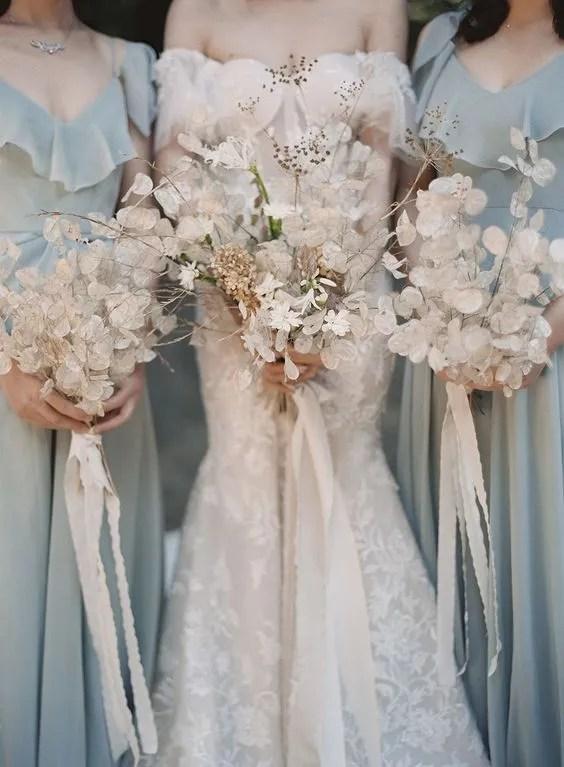 Bouquet sposa in fiori secchi