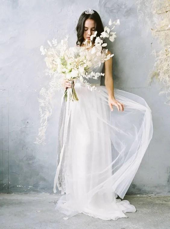 Bouquet sposa  totale dried