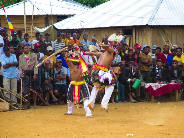 A caci dance is a warrior fight-dance of the West Manggarai people of Flores. Ruteng, Flores.