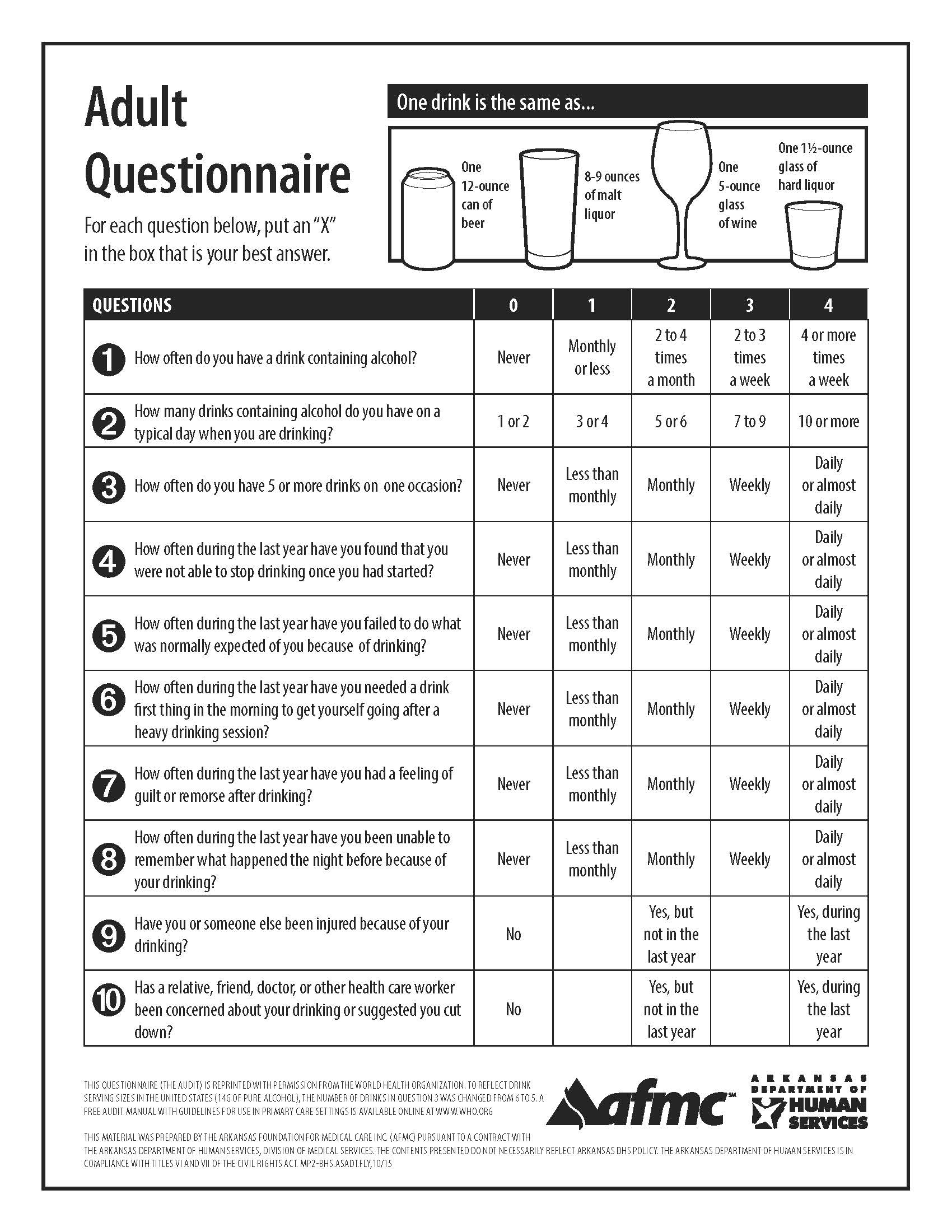 Adult Add Questionaire