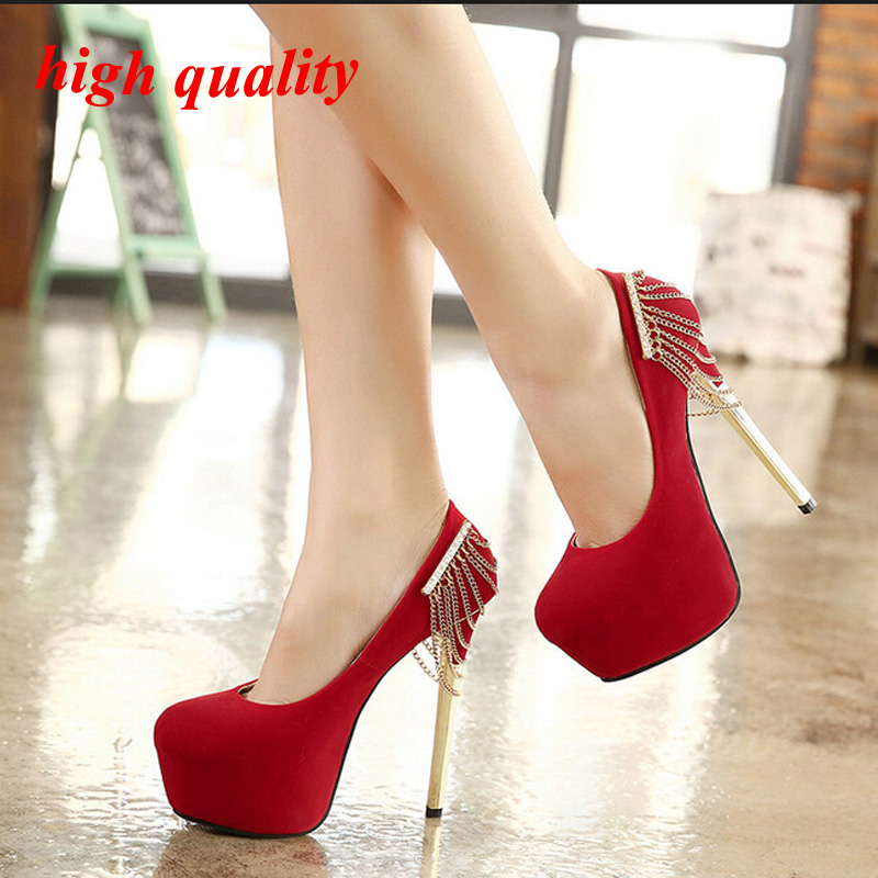 Women-pumps-Sexy-font-b-black-b-font-font-b-heels-b-font-red-bottoms-High