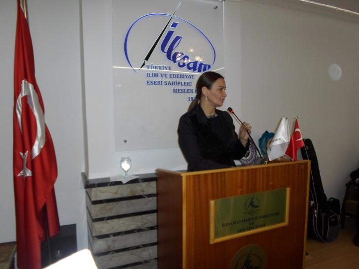 Qənirə Paşayeva İLESAM-da çıxış edib və Türk aydınlarına çağırış edib