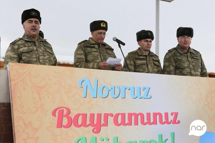 """""""Nar"""" Novruz bayramını cəbhə bölgəsindəki əsgərlərlə qeyd edib-"""