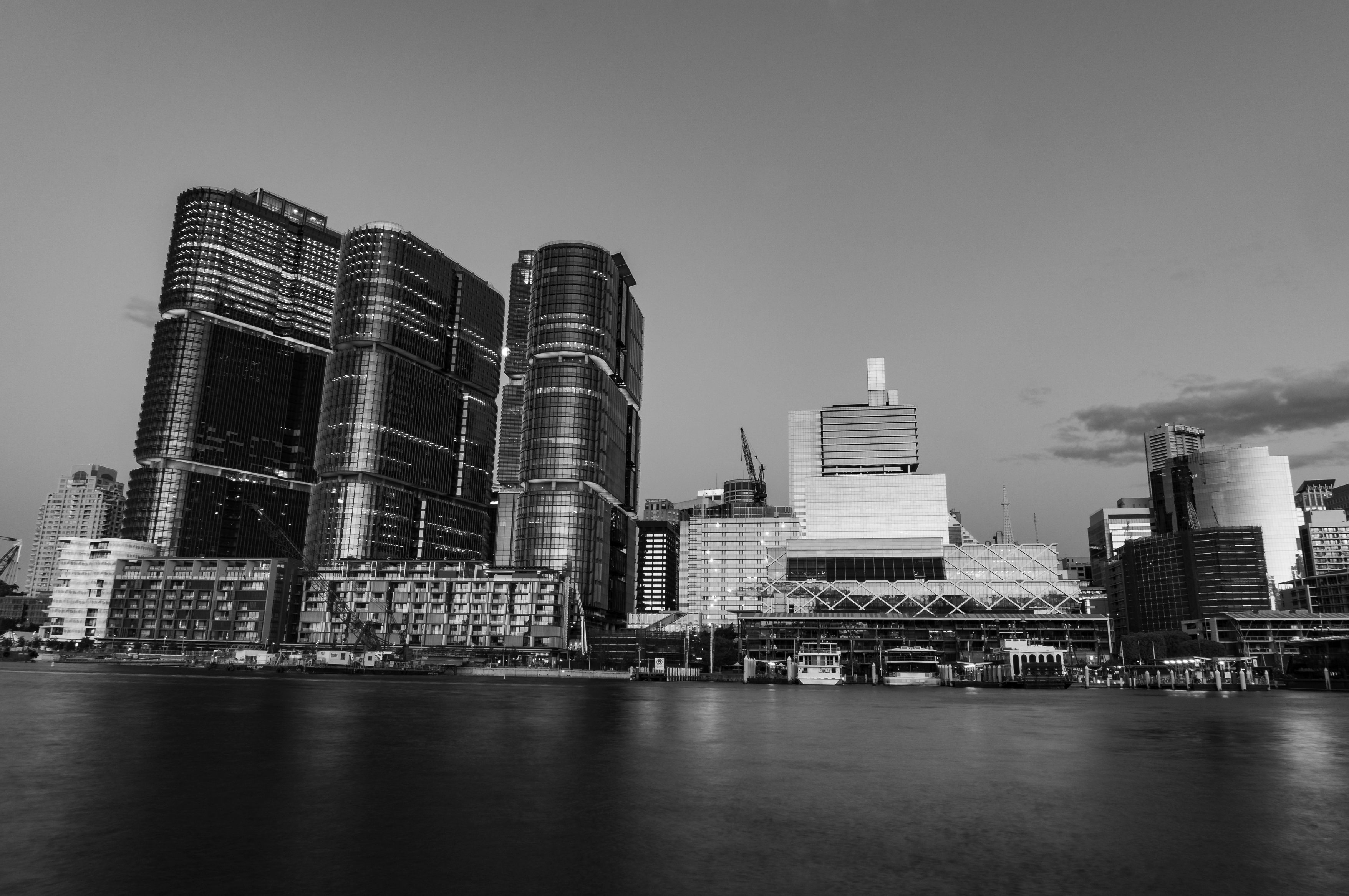 Barangaroo Point And Darling Harbour At Dusk
