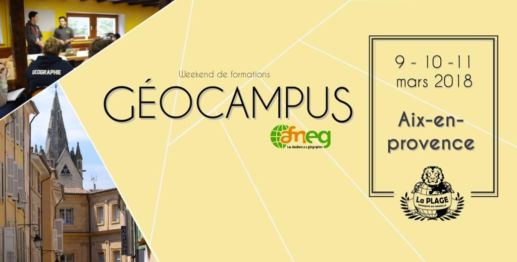 Géocampus 2018 de l'AFNEG