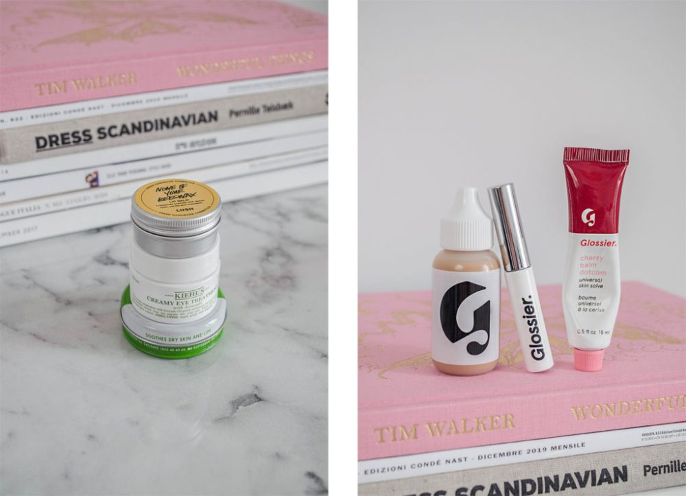 Every day make ups essentials Glossier and Lush