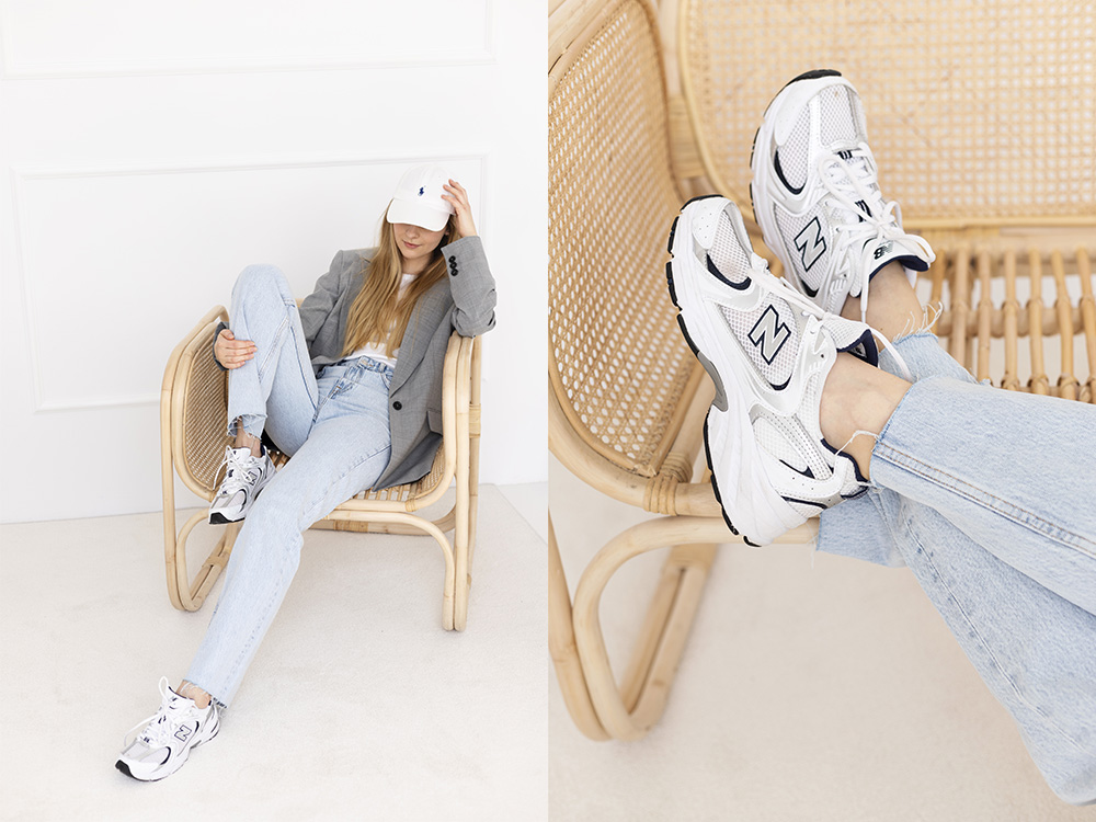 Athleisure look New Balance sneakers
