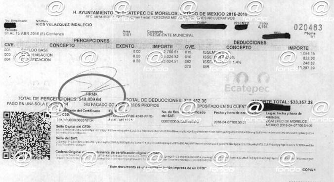 Presidente municipal de Ecatepec gana más de 100 mil pesos al mes sin dar resultados