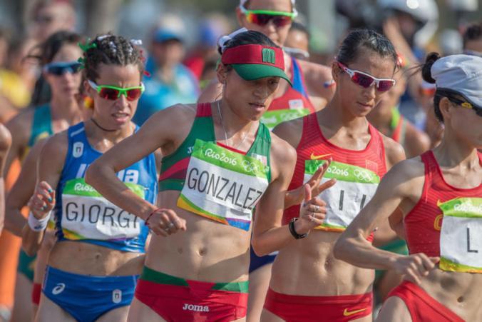 La mexicana mantuvo un paso firme durante toda la competencia.