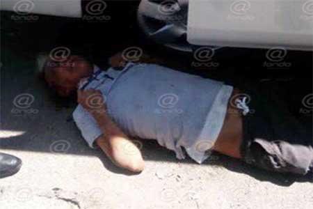 El hombre fue identificado y trasladado a un hospital.