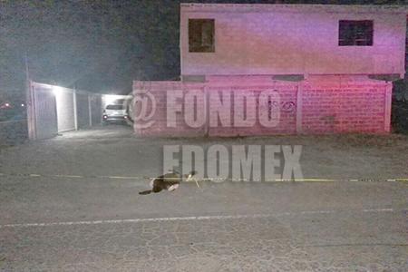 El cuerpo del menor quedó afuera de la casa.