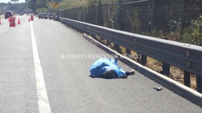 Balacera en autopista Chamapa-Lechería deja un delincuente muerto