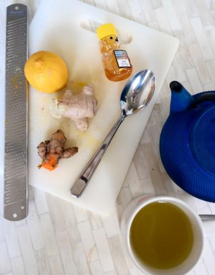 turmeric ginger lemon tea for colds