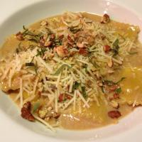 Butternut Squash Ravioli with Calvados Cream Sauce