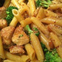 Honey Mustard Chicken with Broccoli and Penne Pasta