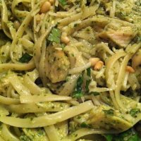 Garlic Chicken Pesto Pasta