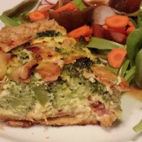 Broccoli Ham Smoked Gouda Quiche