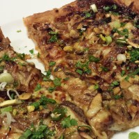 Duck Shiitake Pizza