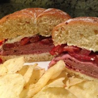 Roast Beef Herbed Cheese Sandwich