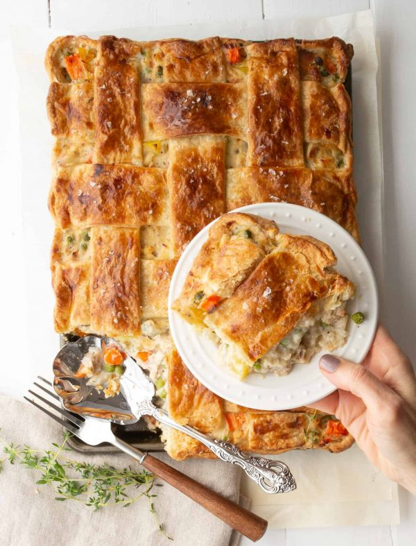 Chicken Pot Pie Slab Style – Classic, Creamy & Comforting