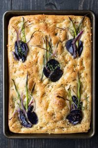 Focaccia with Potatoes and onions