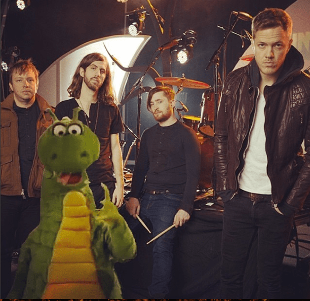 Imagine Dragons with friend