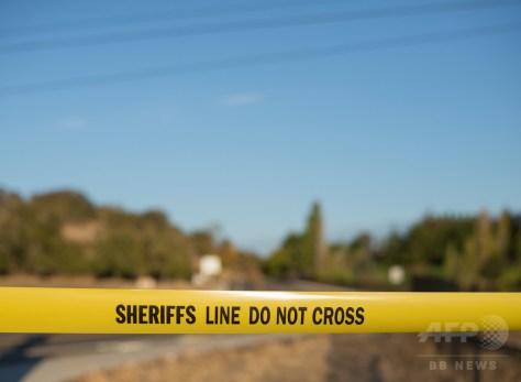 米警察当局が事件現場に張った規制線。オレゴン州にて(2015年10月1日撮影、資料写真)。(c)AFP/Cengiz Yar Jr.