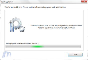Microsoft web platform installer install wordpress