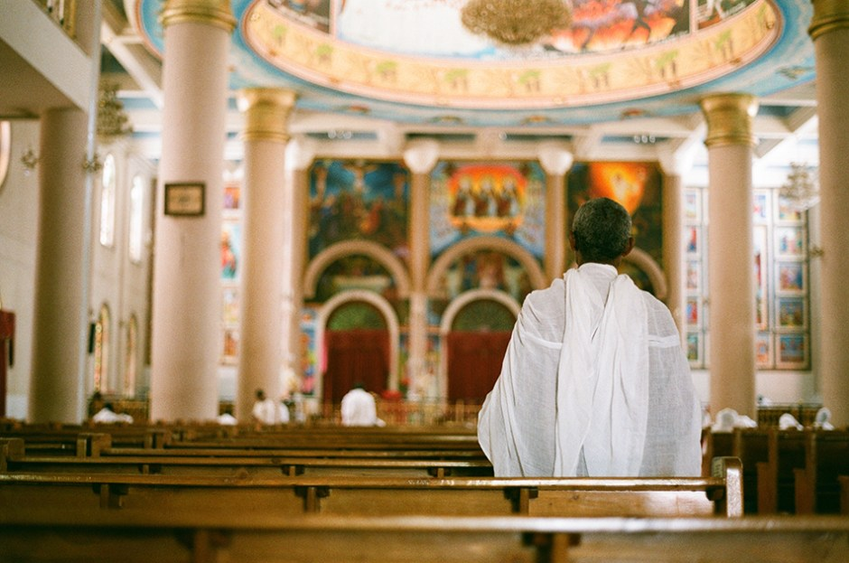 21 - Man in cathedral in Addis