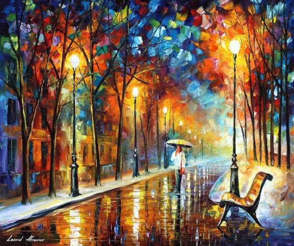 Leonid Afremov oil on canvas palette knife buy original paintings art famous