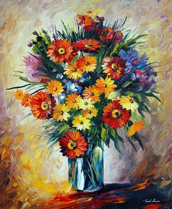 VALENTINE'S DAY — PALETTE KNIFE Oil Painting On Canvas By ...