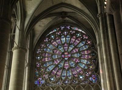 Stain glass window Basilica Saints Nazarre early 14th. century