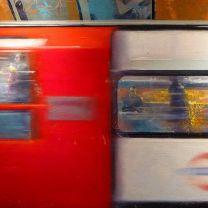 Understory (oil on canvas ) One piece of a longer story deep under the street. #london #underground #uk #england #train #motion #action #urban #story #cityscene #davidfebland #city #art #arte #zug #ubahn #narrative #representationalart #modernart #fineart #contemporaryart #painting #oiloncanvas #oilpainting #instaart #kunst