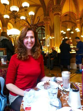 One of the Viennese cafes where we enjoyed more authentic Viennese cakes and pastries. Yum!