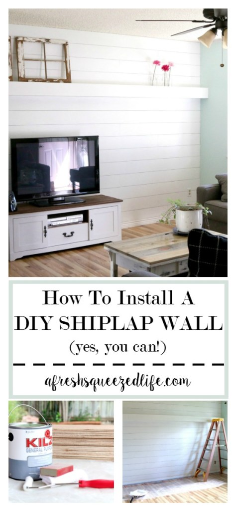 Are you wanting DIY plank wall in your home? My tutorial will guide your through the process from start to finish in how to install DIY plank wall. HOW TO INSTALL DIY PLANK WALL