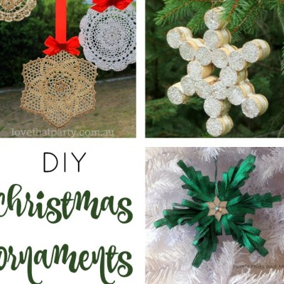 DIY CHRISTMAS ORNAMENTS + LINK PARTY 177