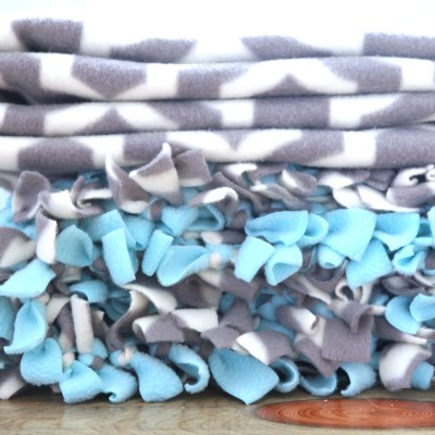TIED FLEECE BLANKET: A TUTORIAL