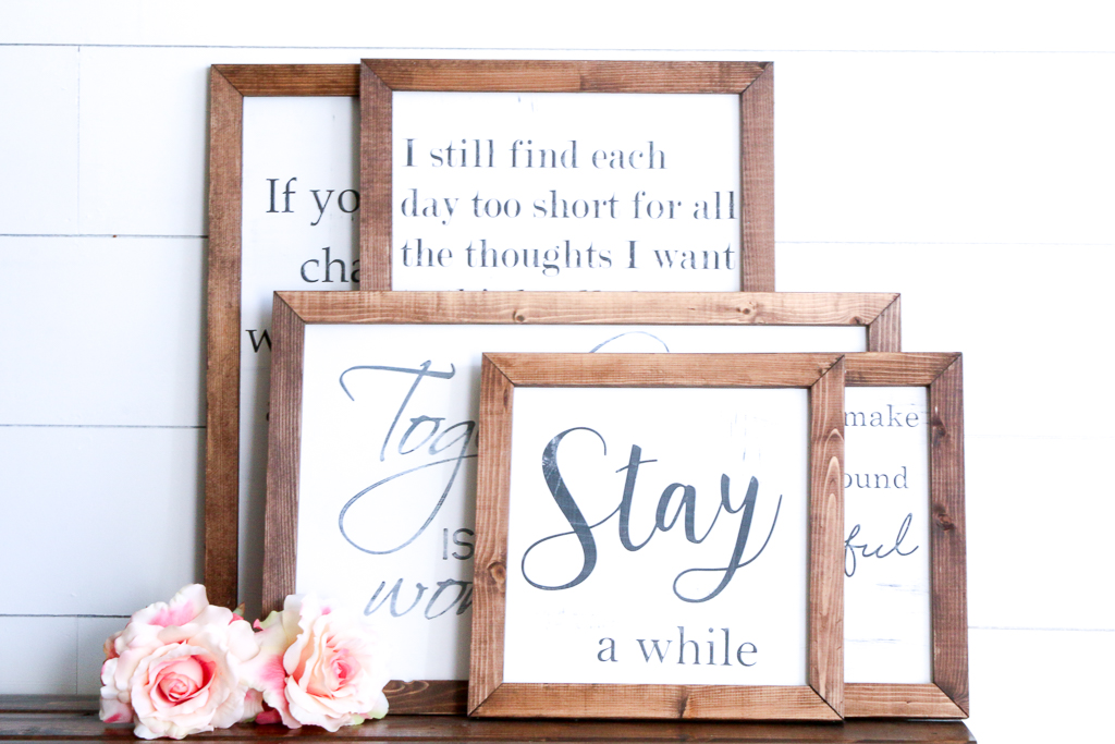 There is a new set of Farmhouse Wood Signs in my shop!  These are perfect for adding a farmhouse touch to your living room, or anywhere in your home!  FARMHOUSE STYLE WOOD SIGNS