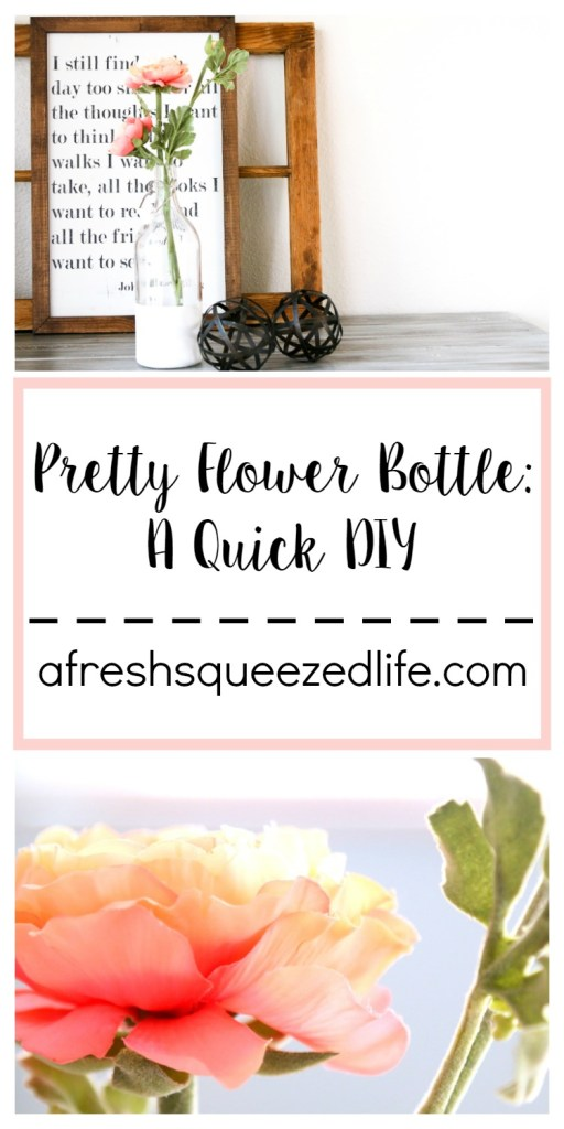 Flower Bottle DIY