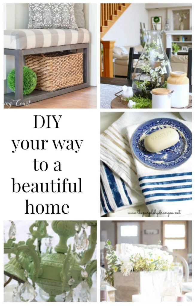 DIY YOUR WAY TO A BEAUTIFUL HOME---MOONLIGHT AND MASON JARS LINK PARTY