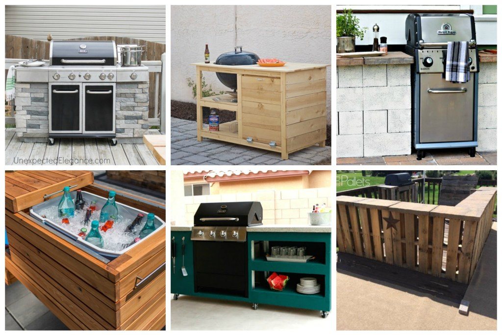 The backyard is like an extension of your house. You have extra square footage right outside! Let me show you how to make your own DIY outdoor kitchen area! MAKE YOUR OWN DIY OUTDOOR KITCHEN AREA