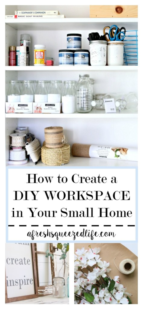 I live in a tiny house and I work from home. My office measures 10 X 10 and I have had to make the most of my space. Let me show you how you can do it too! SMALL CRAFT ROOM