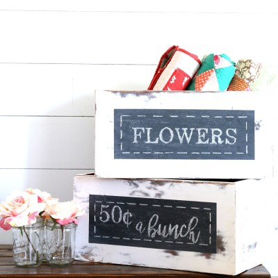 HOW TO FLIP A DRAWER INTO AN ADORABLE CHALKBOARD BOX