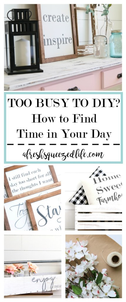 "People tell me all the time that they wish they could find the time to ""make""! Let me share with you how I find time to DIY in my busy schedule! HOW I FIND TIME TO DIY IN MY BUSY SCHEDULE"