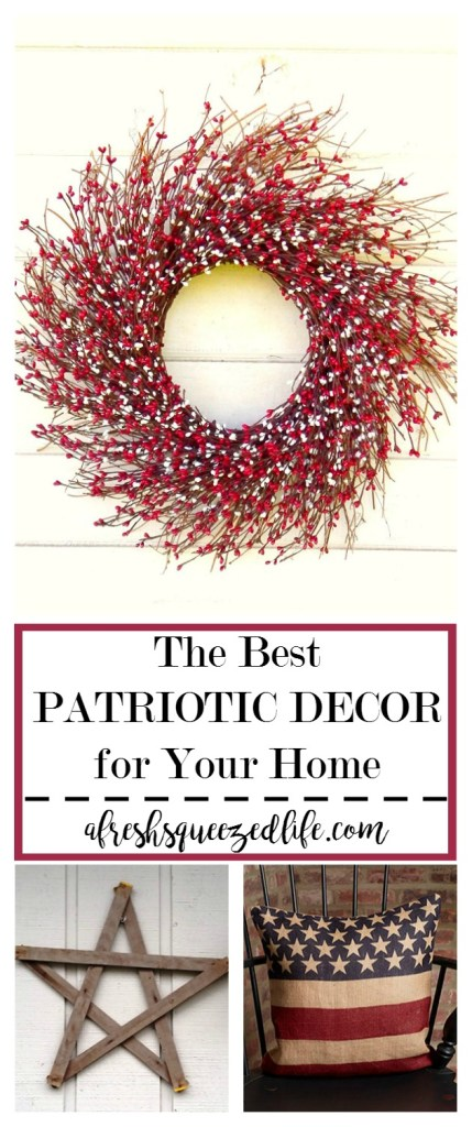Is it true that Fourth of July is just around the corner? It is and that means it's time to add some Fourth of July home decor items to your living space. THE BEST PATRIOTIC TOUCHES FOR YOUR HOME ON FOURTH OF JULY
