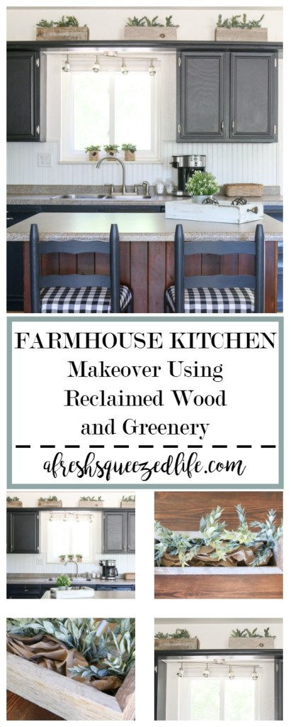 My little kitchen got a little refresh! A bit of reclaimed fencing and some greenery were all it took. Take a peek at my small kitchen decor! WHAT CAN A GIRL DO WITH RECLAIMED FENCING AND SOME GREENERY