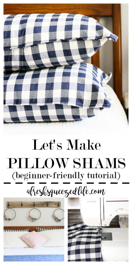 Decorating a space can be fun unless you can not find what you have in mind at the store. Let me show you how to make pillow shams for the perfect look! HOW TO MAKE PILLOW SHAMS